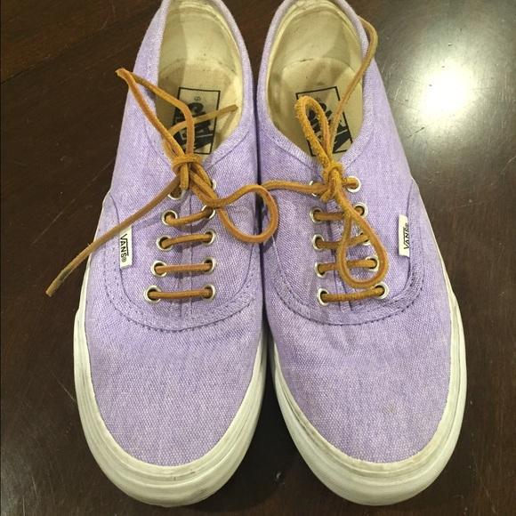 6dd01306f2 Purple washed authentic slim Vans. M 56bab5b6c284563de6014a54