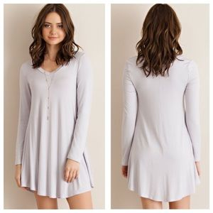SALE🎉🆕Jersey Knit Staple Dress {silver}