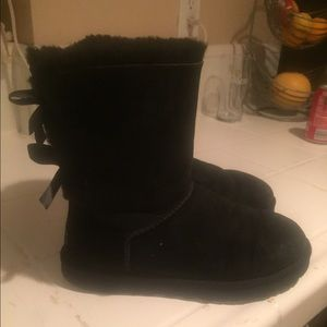 UGG Shoes - Authentic UGG Baily Bow (Black)