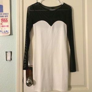 white forever 21 bodycon dress