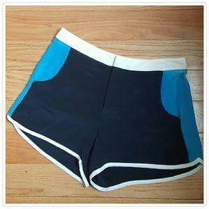 Charlotte Ronson Pants - Charlotte Ronson Color Block Silk Shorts