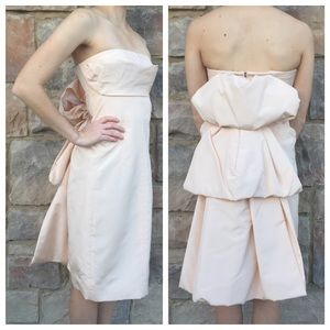 MARC JACOBS Pink Strapless Dress with Layered Back