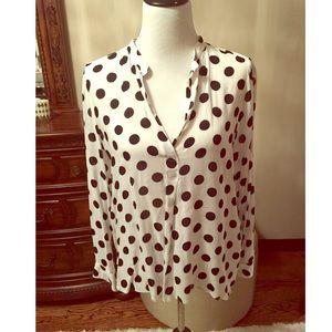 Gorgeous Zara polka dot button down