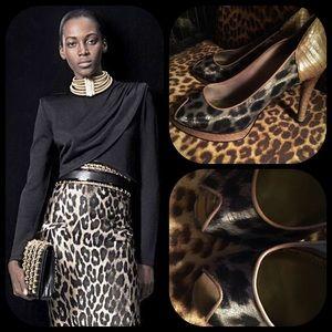 b. makowsky Shoes - Glamorous B. Makowsky leopard and snakeskin heels