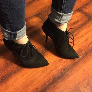 Madison Harding Suede High Heel Booties Size 7