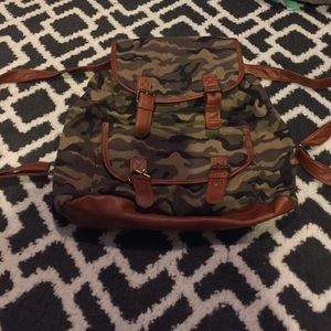 Handbags - Camo canvas backpack