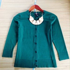 New York & Company Sweaters - 🌟 Green Silk New York & Co Cardigan