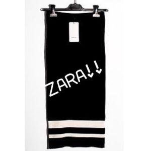 Zara knit tube skirt.