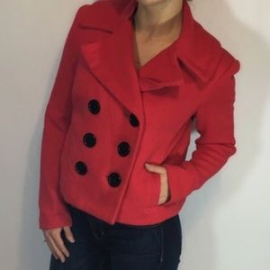 INC International Concepts Red Short Peacoat