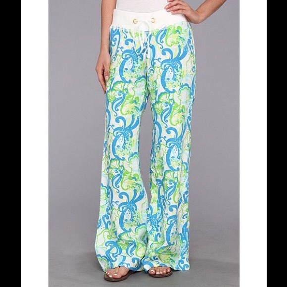 f1279bc0ff Lilly Pulitzer Pants - Lilly pulitzer beach pant resort wht crystal crush