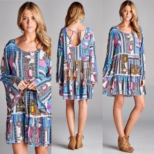 Tops - Multi Colored Boho Print Tunic