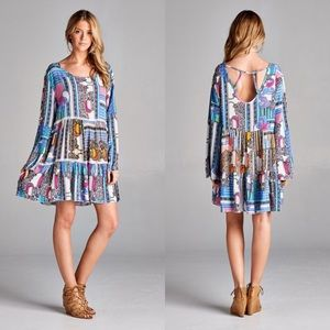 Dresses & Skirts - ⭐️SALE⭐️Multi Colored Boho Print Tunic