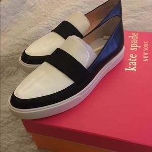 kate spade Shoes - SOLD|  Kate Spade Clove loafers/flats 7.5 blk wht
