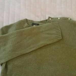 J. Crew 3/4 Sleeve Sparkly Button Sweater