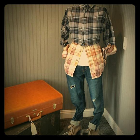 M-8 Dip Dyed Boyfriend Style Flannel