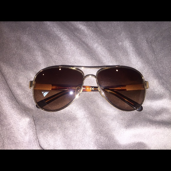 2ab1bbccaeb0 Tory Burch TY6010 Gold/Brown Aviator Sunglasses. M_56bb65a399086a6eea08769a