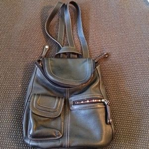 Tignanello Handbags - Black leather backpack