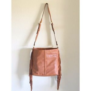 French Connection Handbags - Brown Fringe Shoulder Bag