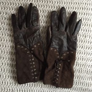 Brown Leather Gloves!