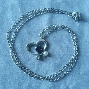 FINAL PRICE: Garnet, pearl, and white sapphire