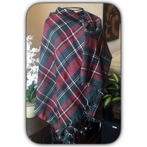 Red & Green Plaid Blanket Scarf