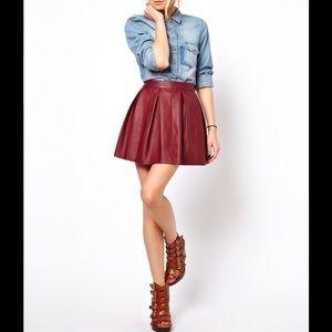 ASOS Dresses & Skirts - ✨HPx3✨ ASOS faux leather skater skirt