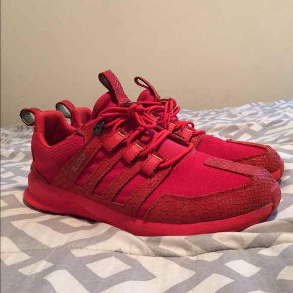 all red adidas shoes