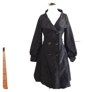 Coffeeshop Jackets & Blazers - Coffeshop lightweight black trench coat