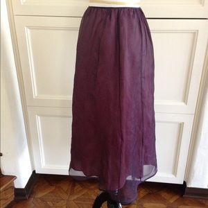 Laundry purple satin skirt