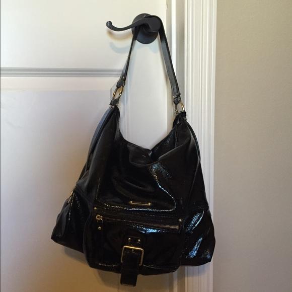 897e12a78cc1 Authentic Michael Kors Black Patent Leather Purse.  M 56bba2b79818299bac08d84c