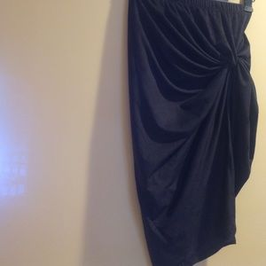 Stella Luce Dresses & Skirts - New Black Faux Suede Skirt Sml FINAL PRICE