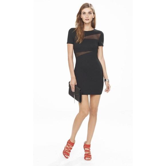 Express Dresses Sexy Black Mini Dress W Mesh Cut Outs Poshmark