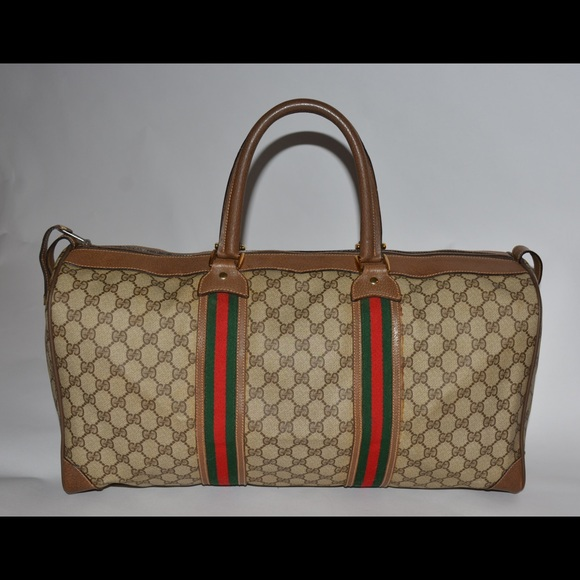 7b744c2ec976 Gucci Bags | Auth Vintage Travel Bag Brown In 70s | Poshmark