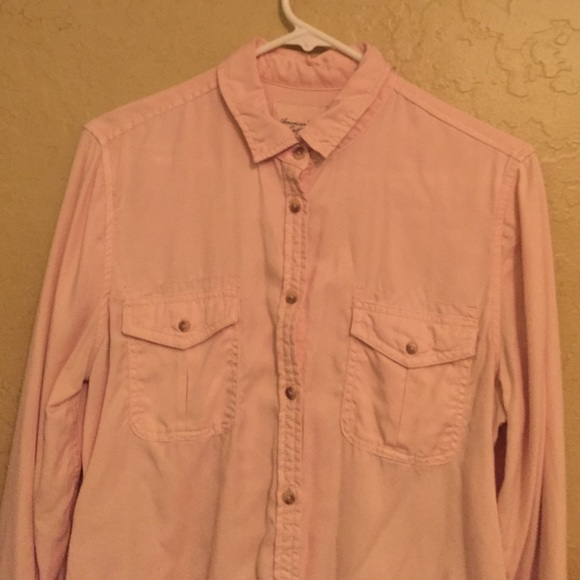 67 off american eagle outfitters tops light pink button for Pastel pink button down shirt