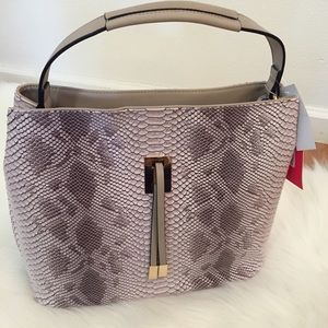 Boutique Handbags - Grey Python Hobo Bag