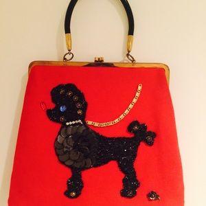 Host Pick! ❤️Vintage Red Poodle bag! Beauty! 1950s