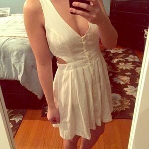 White cut out Nasty Gal dress