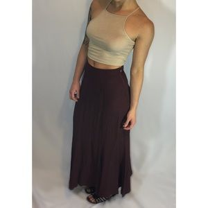 Burgundy Maxi Skirt Size 2