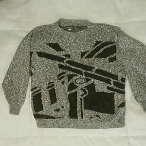 Vintage 80s abstract sweater