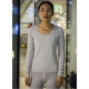 NWT Emily Keller Textured Merino Cotton Sweater