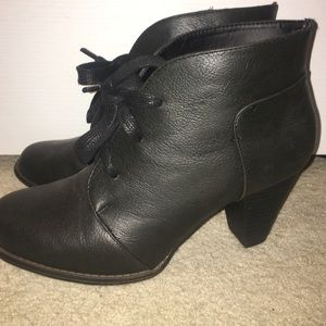 Black Heeled Booties NWOT