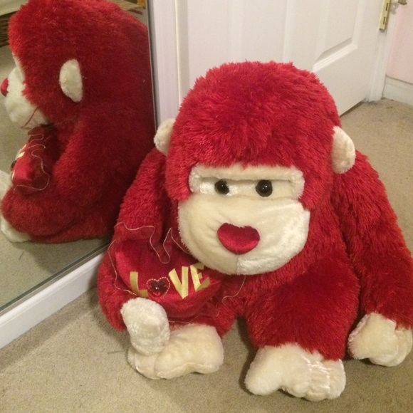 Dan Dee Collection Accessories Giant Red Monkey Stuffed Animal For