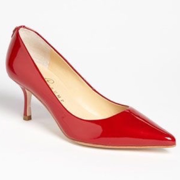78% off Ivanka Trump Shoes - 📍LOWEST/ / Red Patent Leather Kitten ...