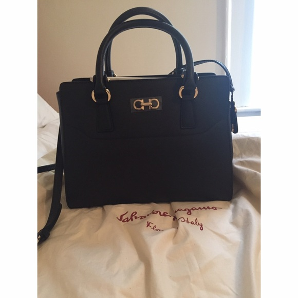 9777bfb720b2 BRAND NEW Small Beky Saffiano Leather Tote. NWT. Salvatore Ferragamo