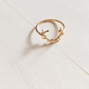 For Love and Lemons Jewelry - For Love And Lemons Antler Midi Gold Ring