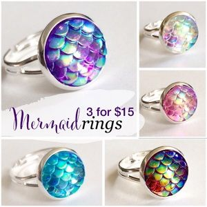 3 for 15 mermaid scale ring