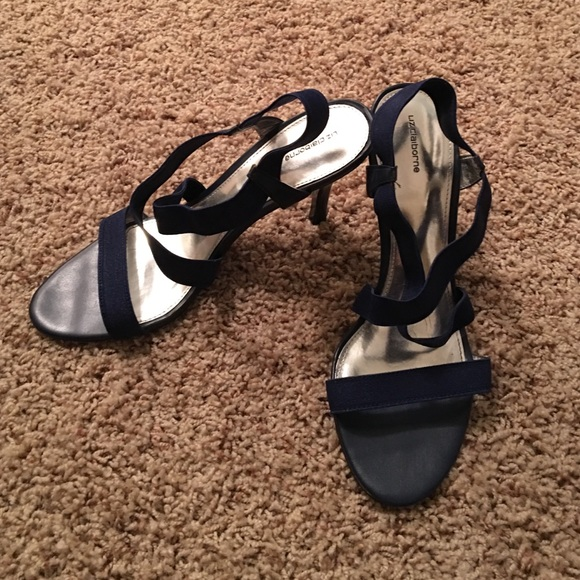 Liz Claiborne - Navy blue strappy heels from Rachel's ...