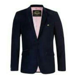 d94f9f9352 $695 Mens Velvet Sport Coat Blazer Jacket 40 Navy NWT