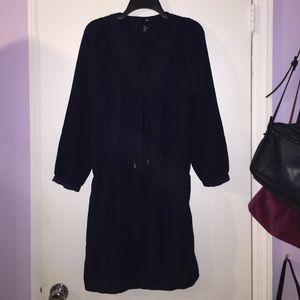 H and m navy dress