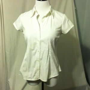 mE Tops - mE white tailored blouse